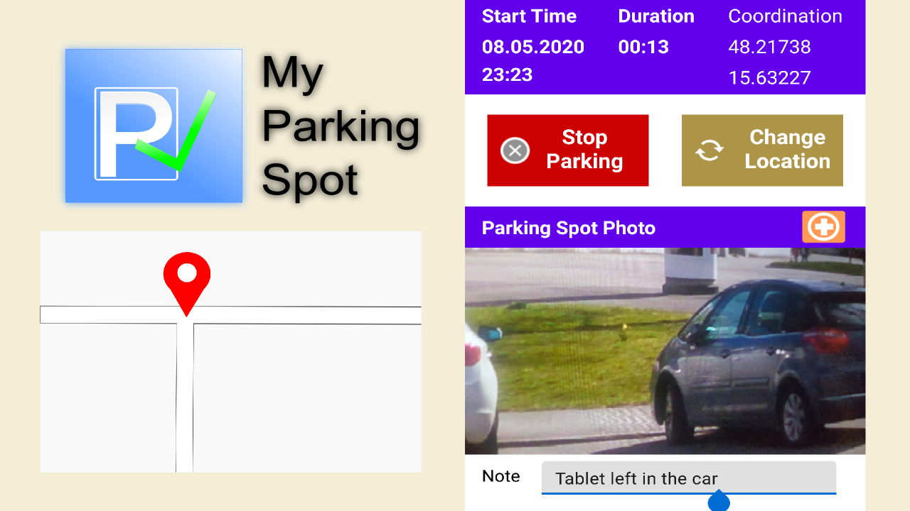 "New Android App ""My Parking Spot"" created with ""Kotlin"" and best practices  - ard"